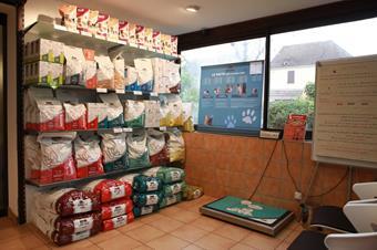 Espace diététique en salle d'attente